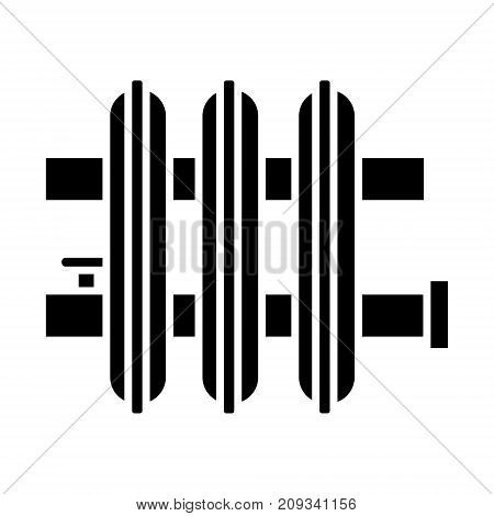 radiator icon, illustration, vector sign on isolated background