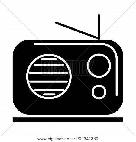 radio reciever icon, illustration, vector sign on isolated background