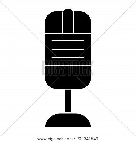 rec microphone icon, illustration, vector sign on isolated background