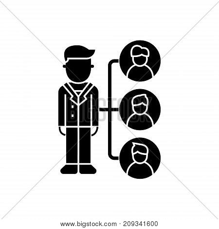 referrals - affilate marketing icon, illustration, vector sign on isolated background