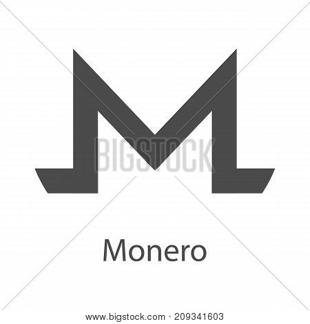 Monero icon for internet money. Crypto currency symbol for using in web projects or mobile applications. Blockchain based secure cryptocurrency. Isolated vector sign.