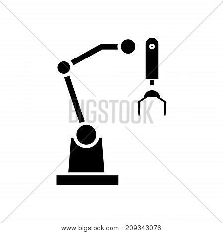robot arm icon, illustration, vector sign on isolated background