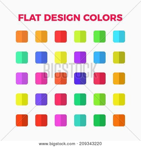flat design colors palette set  with shadows for illustrations and infographic