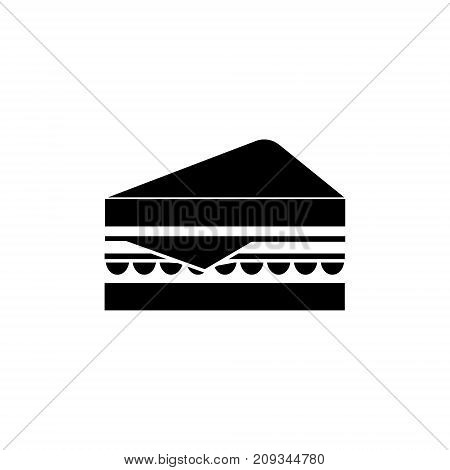 sandwich icon, illustration, vector sign on isolated background