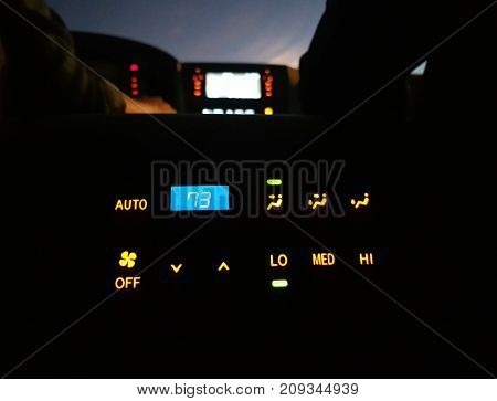car air conditioner switch temperature switch transportation concept