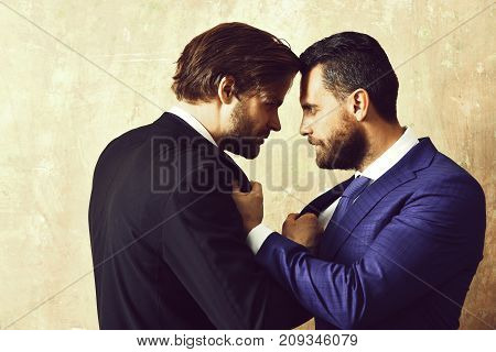 Businessman Attacking His Colleague At A Meeting