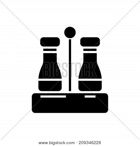 seasoning - salt and pepper icon, illustration, vector sign on isolated background