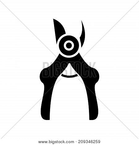 secateurs - pruners icon, illustration, vector sign on isolated background