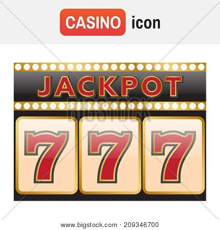 Spins 777. Slot Machine Symbols On Black Background. Lucky Seven