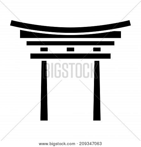 shinto icon, illustration, vector sign on isolated background