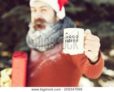 Cup With Good Morning Text