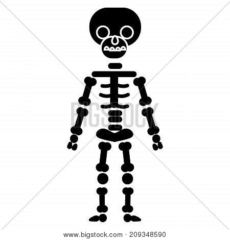 skeletone icon, illustration, vector sign on isolated background