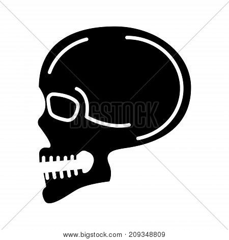 skull front view icon, illustration, vector sign on isolated background