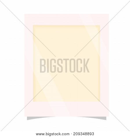 blank photo card with shadow effects. template paper photo frames. vector illustration isolated on white background.  photo frame isolated. photo border
