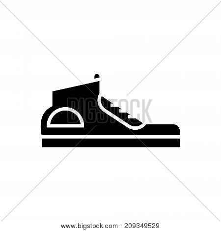 sneakers icon, illustration, vector sign on isolated background