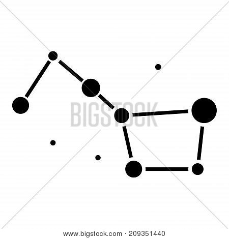 stars - Big Dipper - great bear icon, illustration, vector sign on isolated background