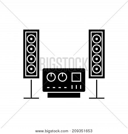 stereo sound hi-fi system icon, illustration, vector sign on isolated background