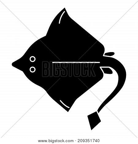 Stingray icon, illustration, vector sign on isolated background