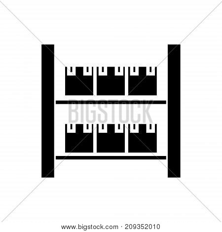 stock industrial warehouse  icon, illustration, vector sign on isolated background