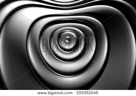 Silver ring metal abstract background