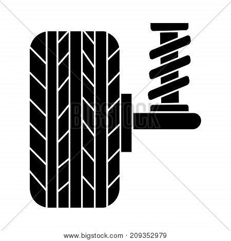 suspension car auto  icon, illustration, vector sign on isolated background