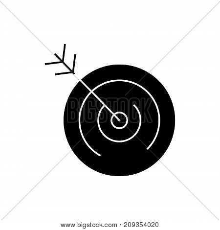 target icon, illustration, vector sign on isolated background