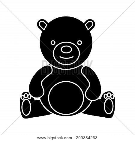 teddy bear - toy icon, illustration, vector sign on isolated background