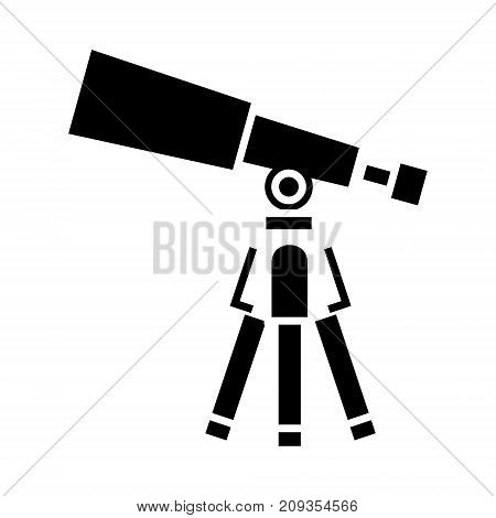 telescope - scope icon, illustration, vector sign on isolated background