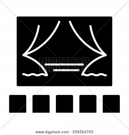 theater show icon, illustration, vector sign on isolated background