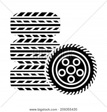 tires - tire service icon, illustration, vector sign on isolated background