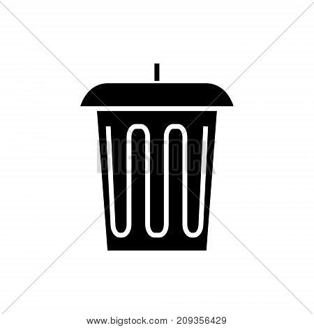 trash - office bin icon, illustration, vector sign on isolated background