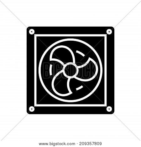ventilation icon, illustration, vector sign on isolated background