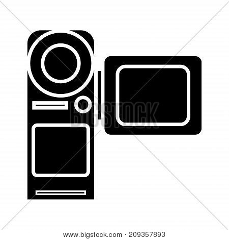 video camera - movie making icon, illustration, vector sign on isolated background