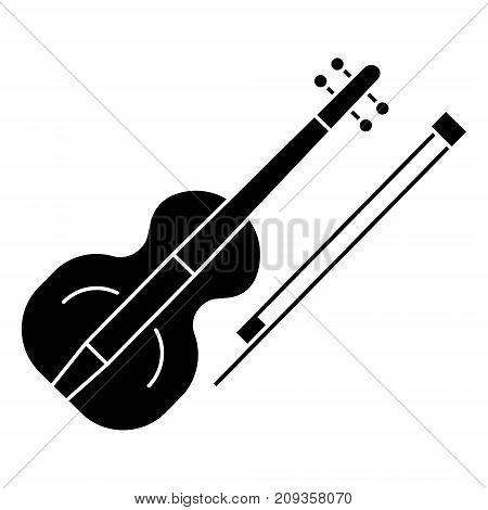 violin icon, illustration, vector sign on isolated background