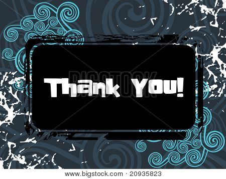 grungy background with thank you pattern banner illustration