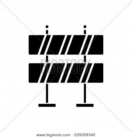 warning construction sign icon, illustration, vector sign on isolated background