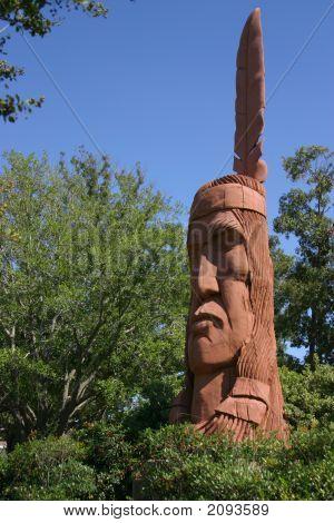 Big Wooden Indian