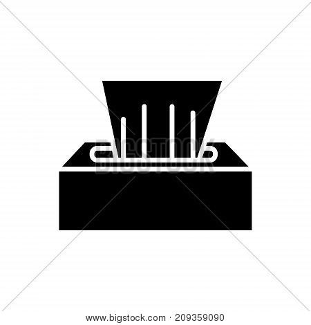 wet wipes icon, illustration, vector sign on isolated background
