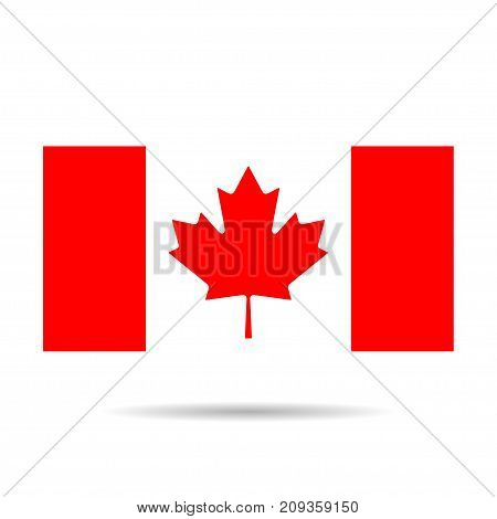 Canada flag image. Canada flag drawing JPG. Canada flag template. Canada flag EPS vector illustration. Canada leaf