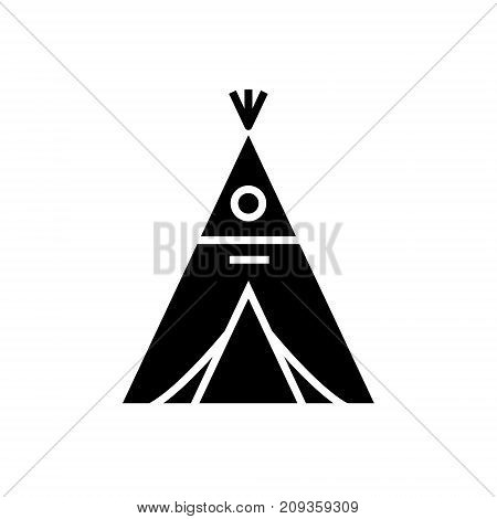 wigwam icon, illustration, vector sign on isolated background
