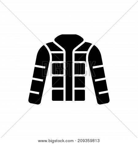 winter jacket - down jacket - outdoor icon, illustration, vector sign on isolated background