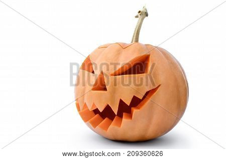 Jack's Head Of A Lantern Carved From Pumpkin For Halloween