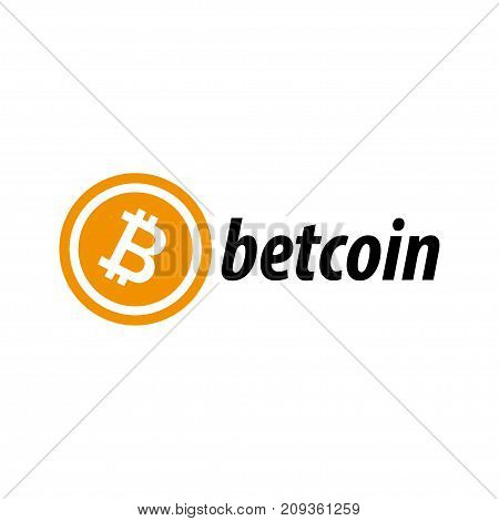 Bitcoin icon flat art web www mobile app sign image
