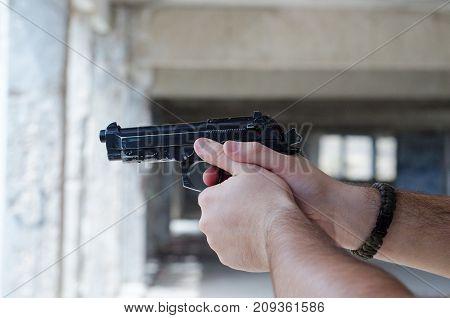 Airsoft Gas Hand Gun Fire Airsoft Gas