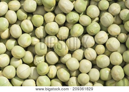 Closeup View And Pattern Of Some Peas.