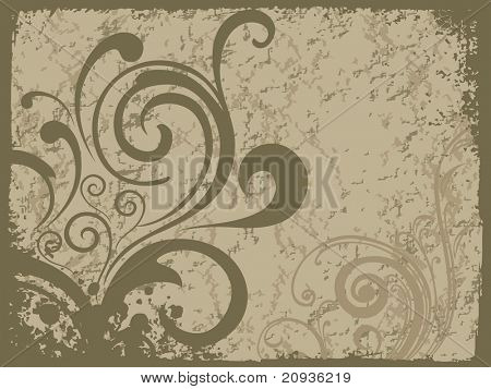 poster of abstract green texture background with creative floral