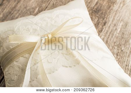 Elegant Pillow Or Cushion For Rings. Wedding Ceremony