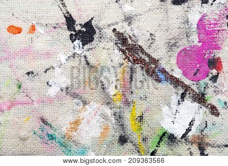 paint stains on the fabric as background