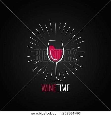 Wine glass menu design background. 10 eps