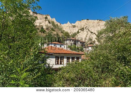 Old houses from the nineteenth century in town of Melnik, Blagoevgrad region, Bulgaria